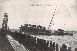 Ansichtkaart Hoek van Holland Schipbreuk S.S. Berlin Scheepvaart HC16245