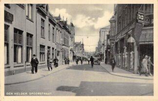 Ansichtkaart Den Helder Spoorstraat Winkel V & D 1940 HC16249