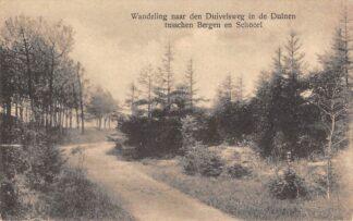 Ansichtkaart Bergen (NH) Wandeling naar den Duivelsweg in de Duinen tusschen Bergen en Schoorl HC16283