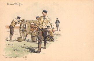 Ansichtkaart Duitsland Militair Grosse Wasche Soldaten-Postkarte Art. 9 Humor Illustrator C. Becker Deutschland Europa HC16329