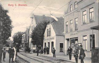 Ansichtkaart Duitsland Burg b. Bremen met tram naar Groningen 1907 HC16382