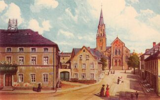 Ansichtkaart Duitsland Selb i. Bayern Marktplatz m. prot. Kirche Deutschland Europa HC16387