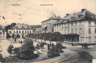 Ansichtkaart Duitsland Arnsberg Neumarkt mit Post 1911 Hotel Husemann Deutschland Europa HC16397