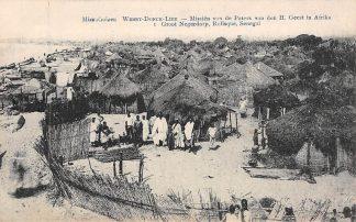 Ansichtkaart Weert Donck Lier Missiehuizen 1. Groot Negerdorp Rufisque Senegal Missien van de Paters van den H. Geest in Afrika Belgie Europa HC16417