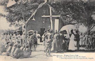 Ansichtkaart Weert Donck Lier Missiehuizen 5. Plechtig doopsel van een opperhoofd Angola Missien van de Paters van den H. Geest Afrika Belgie Europa HC16421