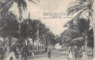 Ansichtkaart Weert Donck Lier Missiehuizen 8. Beschaving Laan van cocosboomen St-Louis Senegal Missien van de Paters van den H. Geest Afrika Belgie Europa HC16424