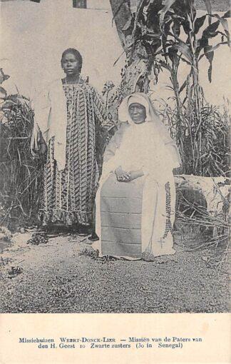 Ansichtkaart Weert Donck Lier Missiehuizen 10. Zwarte zusters ( 30 in Senegal ) Missien van de Paters van den H. Geest Afrika Belgie Europa HC16426