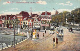 Ansichtkaart Utrecht Smokkelaarsbrug Leidsche Veer Molen Tram 1911 HC16437
