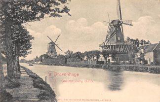 Ansichtkaart 's-Gravenhage Gezicht nabij Delft Molens HC16454