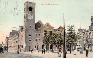 Ansichtkaart Amsterdam Beurs Tram 1907 HC16464