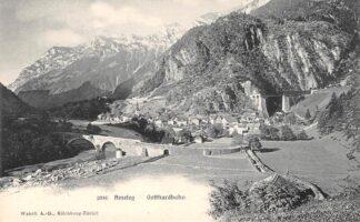 Ansichtkaart Zwitserland Amsteg Gotthardbahn Spoorwegen Schweiz Switzerland Suisse Europa HC16524
