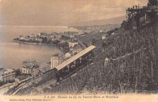 Ansichtkaart Zwitserland Chemin de Fer de Territet - Glion et Montreux Trein Spoorwegen Schweiz Switzerland Suisse Europa HC16530