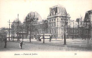 Ansichtkaart België Antwerpen Anvers Palais de Justice Tram Europa HC16546