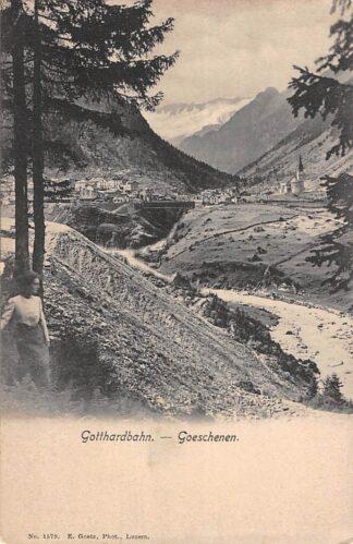 Ansichtkaart Zwitserland Gotthardbahn Goeschenen Spoorwegen Schweiz Switzerland Suisse Europa HC16568
