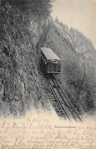 Ansichtkaart Zwitserland Burgenstockbahn 1904 Trein Spoorwegen Schweiz Switzerland Suisse Europa HC16572