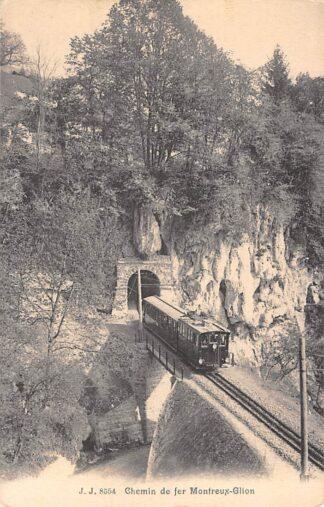 Ansichtkaart Zwitserland Chemin de fer Montreux - Glion Trein Spoorwegen Schweitz Switzerland Suisse Europa HC16576