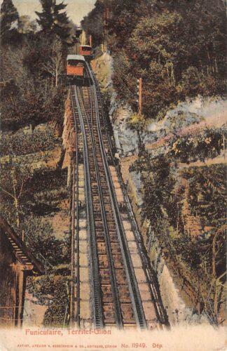 Ansichtkaart Zwitserland Funiculaire Territef - Glion Trein Spoorwegen Schweiz Switzerland Suisse Europa HC16577