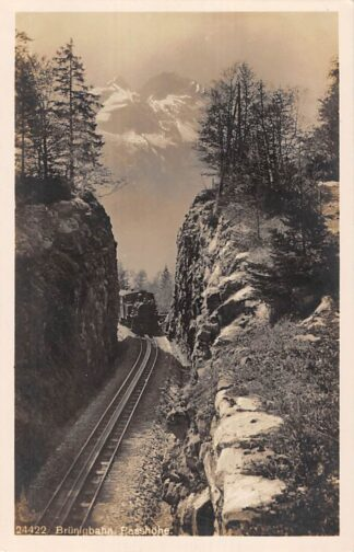 Ansichtkaart Zwitserland Brunigbahn Passhohe Stoomlocomotief Trein Spoorwegen Schweiz Switzerland Suisse Europa HC16618