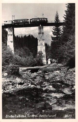 Ansichtkaart Zwitserland Stubaithbahn Tirol m. Bettelwurf Trein Spoorwegen Schweiz Switzerland Suisse Europa HC16620
