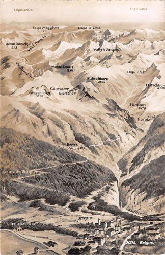 Ansichtkaart Zwitserland Brugue Schweiz Switzerland Suisse Europa HC16623