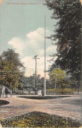 Ansichtkaart USA Morris Plains N.J. 1914 Five Corners Noord-Amerika HC16624