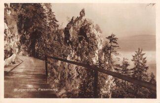 Ansichtkaart Zwitserland Burgenstock Felsenweg 1924 Schweiz Switzerland Suisse Europa HC16642