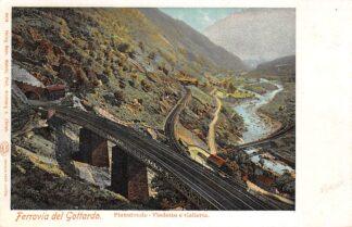 Ansichtkaart Zwitserland Ferrovia del Gottardo Pianotonde Viadotto e Galleria Spoorwegen Schweiz Switzerland Suisse Europa HC16643