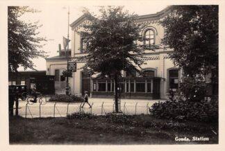 Ansichtkaart Gouda Station voor bombardement Tweede Wereldoorlog Fotokaart HC16650