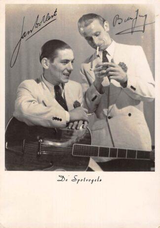 Ansichtkaart Muziek Duo De Spotvogels gesigneerd Fotokaart HC16698