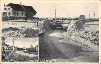 Ansichtkaart Ouwerkerk Schouwen Duiveland 1953 Ingang dorp na de Stormramp Inzet voor de Stormramp HC16700