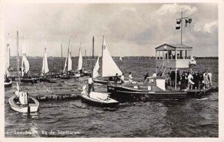 Ansichtkaart Loosdrecht Bij de Starttoren Zeilschepen 1945 Fotokaart HC16724