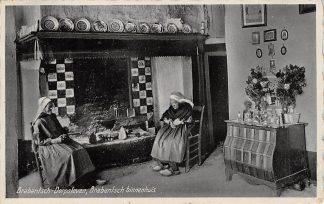 Ansichtkaart Noord-Brabant Brabantsch Dorpsleven Binnenhuis Boerinnen in Klederdracht 1921 HC16730