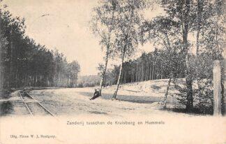 Ansichtkaart Hummelo Zanderij tusschen de Kruisberg en Hummelo Spoorlijn Spoorwegen 1912 HC16732