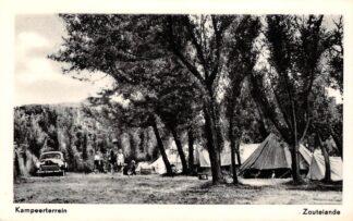 Ansichtkaart Zoutelande Kampeerterrein met auto en tenten Camping HC16735