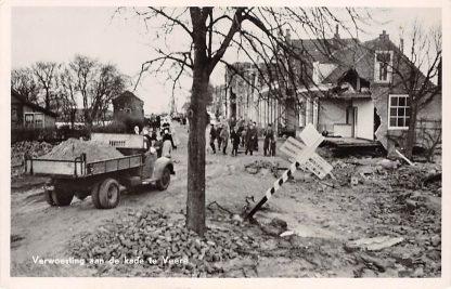 Ansichtkaart Veere Verwoesting aan de kade 1953 Watersnoodramp HC16748