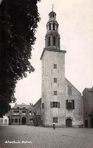 Ansichtkaart Hulst Stadhuis Newo fotokaart Zeeuws-Vlaanderen HC16811
