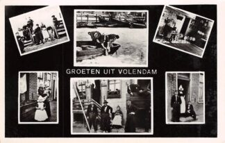 Ansichtkaart Volendam Groeten uit Zesluik met klederdracht HC16823
