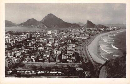 Ansichtkaart Brazilië Rio de Janeiro Leblon e Ipanema Prachtige fotokaart Zuid-Amerika HC16830