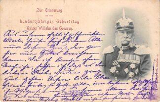 Ansichtkaart Duitsland Zur Erinnerung an den hundertjahrigen Geburtstag 1897 Kaiser Wilhelm des Grossen Deutschland Europa HC16874
