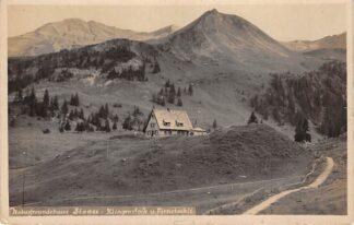 Ansichtkaart Zwitserland Stooss Naturfreundehaus Stoos Klingenstock u. Frinstockli Fotokaart 1930 Schweiz Switzerland Suisse Europa HC16888
