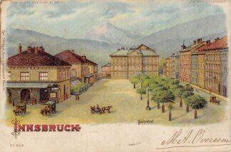 Ansichtkaart Zwitserland Innsbruck Bahnhof Litho 1906 Bitte gegen das Licht zu halten Station Spoorwegen Schweiz Switzerland Suisse Europa HC16892