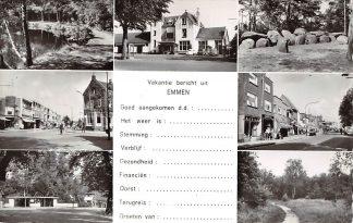 Ansichtkaart Emmen Vakantie bericht met 7 foto's 1964 HC16916