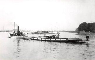Ansichtkaart Zo was Dordrecht Veerdienst Dordrecht - Papendrecht omstreeks 1905 Veer Binnenvaart schepen Scheepvaart HC16948