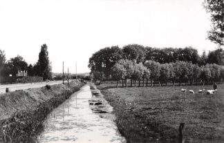 Ansichtkaart Zo was Dordrecht Van overweg Achterweg naar overweg Dubbeldamseweg omstreeks 1900 HC16949