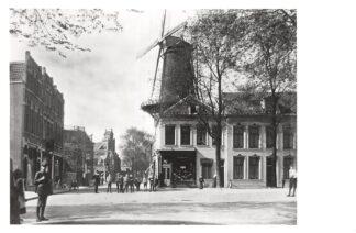 Ansichtkaart Zo was Dordrecht Vrieseplein omstreeks 1915 Molen HC16974