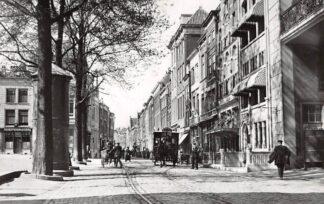 Ansichtkaart Zo was Dordrecht Wijnstraat - Groenmarkt omstreeks 1915 Paardentram Tram HC16993
