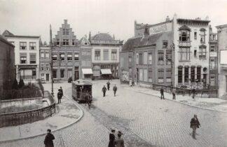 Ansichtkaart Zo was Dordrecht Visbrug - Groenmarkt omstreeks 1910 Paardentram Tram HC16997