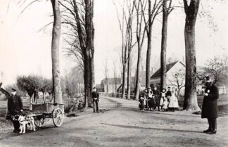 Ansichtkaart Zo was Dordrecht Dubbelsteynlaan bij de Rechte Zandweg omstreeks 1905 Hondenkar HC17000