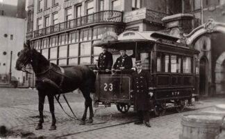 Ansichtkaart Zo was Dordrecht Groothoofd omstreeks 1910 Paardentram 23 Tram HC17014