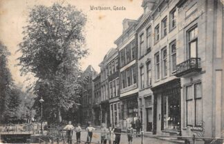 Ansichtkaart Gouda Westhaven hoek Lage Gouwe HC17061